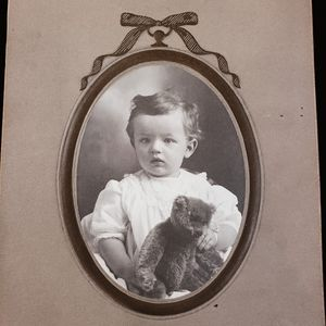 Antique Victorian photograph of a beautiful baby.